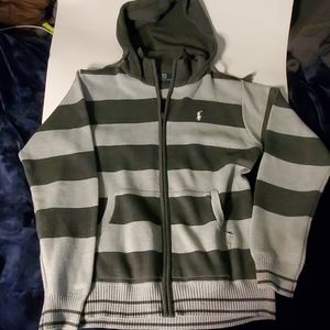 Vintage polo hoodie sweater